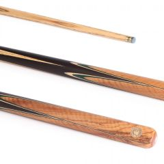 PowerGlide Professional Vanquish Olivewood 50/50 2 Piece Snooker Cue And Sleeve