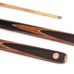 PowerGlide Professional Axas Exotic Wood 50/50 2 Piece Snooker Cue And Sleeve