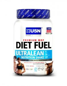 USN Diet Fuel Ultralean Whey Protein Meal Replacement Weight Loss Shake - 1kg