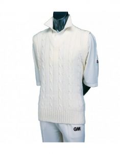 Gunn & Moore GM Cricket Clothing Sweater Plain Sleeveless Cable Knit
