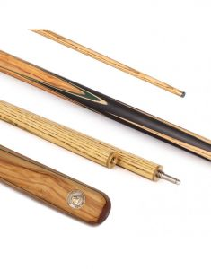 PowerGlide Professional Vanquish Olivewood 3 Quarter Snooker Cue And Sleeve