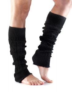 ToeSox Leg Warmers Knee High Ready Muscles For Training Performance - Black