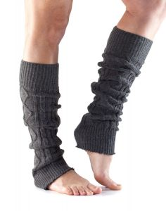 ToeSox Leg Warmers Knee High Ready Muscles For Training Performance - Charcoal Grey
