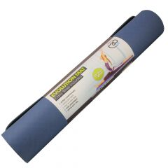 Fitness Mad Yoga Pilates Evolution SuperSoft Double Sided Mat 4mm - Blue/Grey