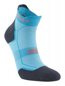 Hilly Pace Socklet Ladies Socks Running Cushioning Lightweight Comfort - Peacock