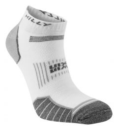 Hilly Twin Skin Socklet Socks Running Training Sports Performance - White/Grey