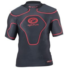 Optimum Sports Origin Removable Padding Full Length Rugby Top - Black/Red