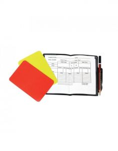 Optimum Sports Essential Referee Football Training Cards With Note Sheets