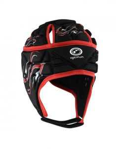 Optimum Sports Inferno Maximum Cranial Protection Rugby Headguard - Red