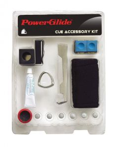 PowerGlide Snooker & Pool Professional & Standard Cue Accessory Kit
