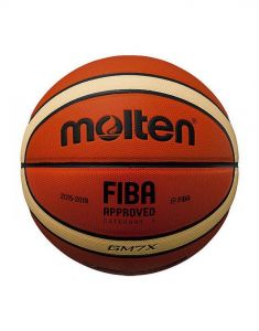 Molten BGMX PU Leather Fiba Approved Patented Official 12 Panel Basketball