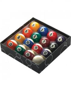 PowerGlide Classic Standard Spots And Stripes Pool Balls 57mm - Boxed