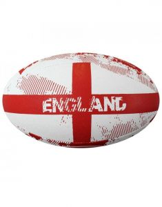 Optimum Sport Hand Stitched Rubber Outer Balanced Weight England Rugby Ball