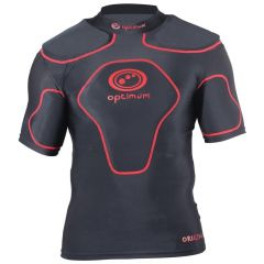 Optimum Junior Sports Rugby Top in Red with Shoulder Pads - Lightweight
