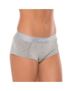 Comfy Womens Hipster Wood Training Fitness Workout Underwear - Grey