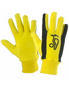 Kookaburra Plain Cotton Full Finger Yellow Mesh Wicket Keeping Inner Gloves