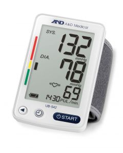 A&D UB542 Automatic Wrist Blood Pressure Monitor With 90 Reading Memory Record