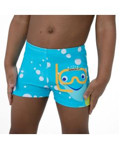 Speedo Kids Tots Tommy Turtle Placement Aquashort Junior Boys Swimming Shorts