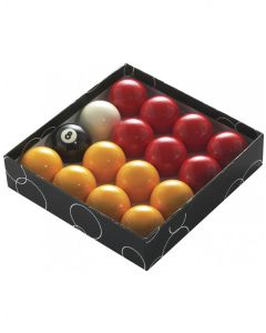 PowerGlide Classic Standard Red And Yellow Pool Balls 47.5mm - Boxed
