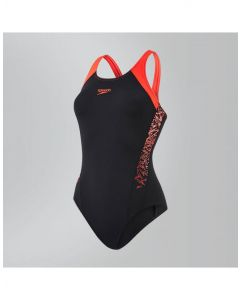 Speedo Boom Splice Muscleback Chlorine Resist Soft Touch Womens Swimming Costume