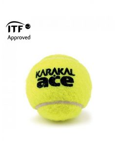 Karakal Ace Tennis Ball ITF Approved Championship Pressurised Balls - 1 Dozen