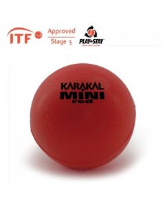 Karakal Mini Foam Red Tennis Ball  ITF Approved 90mm Starter Balls - 1 Dozen