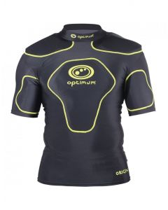 Optimum Sports Origin Removable Padding Full Length Rugby Top - Fluro Green