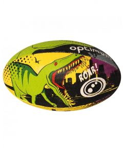 Optimum Sport Hand Stitched Rubber Outer Dino City Rugby Ball - MIni