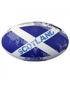 Optimum Sport Hand Stitched Rubber Outer Balanced Weight Scotland Rugby Ball