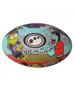 Optimum Sport Hand Stitched Rubber Outer Balanced Weight Zombie Print Rugby Ball