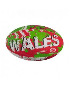 Optimum Sport Hand Stitched Rubber Outer Balanced Weight Wales Rugby Ball