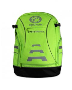Optimum Sports Nitebrite High Vis Padded Back And Shoulder Cycling Backpack