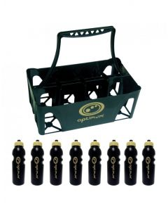 Optimum Sports Lightweight Moulded Water Bottle Carrier Set With 8 Bottles