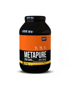 QNT Metapure Zero Carb Fat Free Whey Protein Isolate Muscle Powder (Banana) 2kg