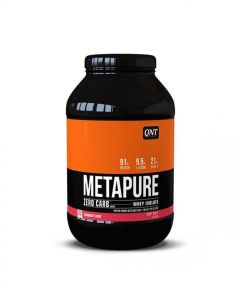 QNT Metapure Zero Carb Fat Free Whey Protein Isolate Powder (Strawberry) 908g