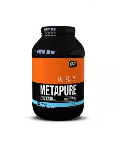QNT Metapure Zero Carb Fat Free Whey Protein Isolate Powder (Coconut) - 2kg