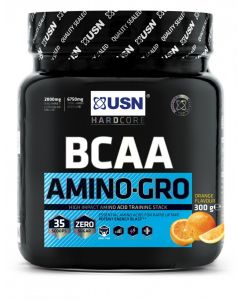 USN BCAA Amino Gro High Impact Amino Acid Training Stack Supplement - 300g