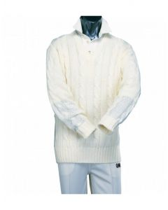 Gunn & Moore GM Cricket Clothing Sweater Plain Long Sleeved Cable Knit