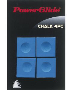 Powerglide Snooker & Pool Accessories Cue Blue Chalk Four Piece x 3 Pack
