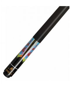 Powerglide Classic Psychedelic Pool Cue Ramin Shaft Decal Butt 13mm Fibre Tip