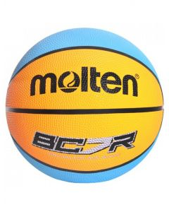 Molten BCR-OC Basketball 8 Panel Coloured Rubber Official Size Orange/Cyan