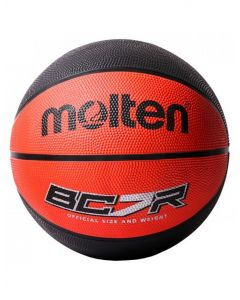 Molten BCR2-RK Basketball 8 Panel Coloured Rubber Official Size Red/Black