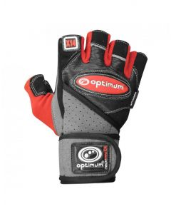 Optimum Sport Techpro X14 Weightlifting Gloves Double Wrist Wrap Support Strap