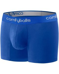 Comfyballs Cotton Long Boxer Shorts Fitness Training Superior Comfort  - All Blue