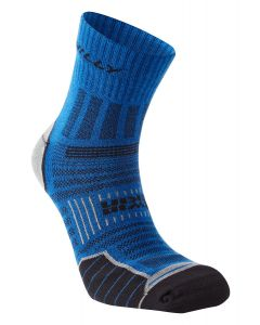 Hilly Twin Skin Anklet Socks Running Performance Training Sport – Blue/Grey