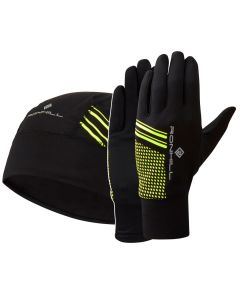 Ronhill Classic Beanie & Gloves Set Running Outdoor Thermal Reflective