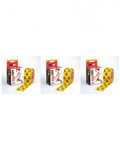 Rocktape Strong Adhesive Kinesiology Tape Patterned Rolls x 3 - Biohazard