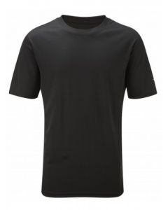Ronhill Running Mens Everyday Plain Tee Shirt High Wicking Vapourlite - Black