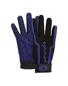 Optimum Sport Velocity Thermal Rugby Gloves Winter Training Insulated Grip-Black Blue