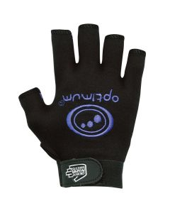 Optimum Sports Stik Mits Half Finger Wrist Strap Junior Rugby Gloves Black/Blue